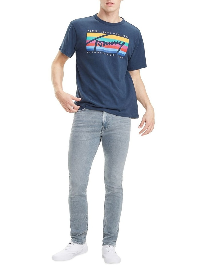 Rainbow Stripe Cotton T-Shirt image 2