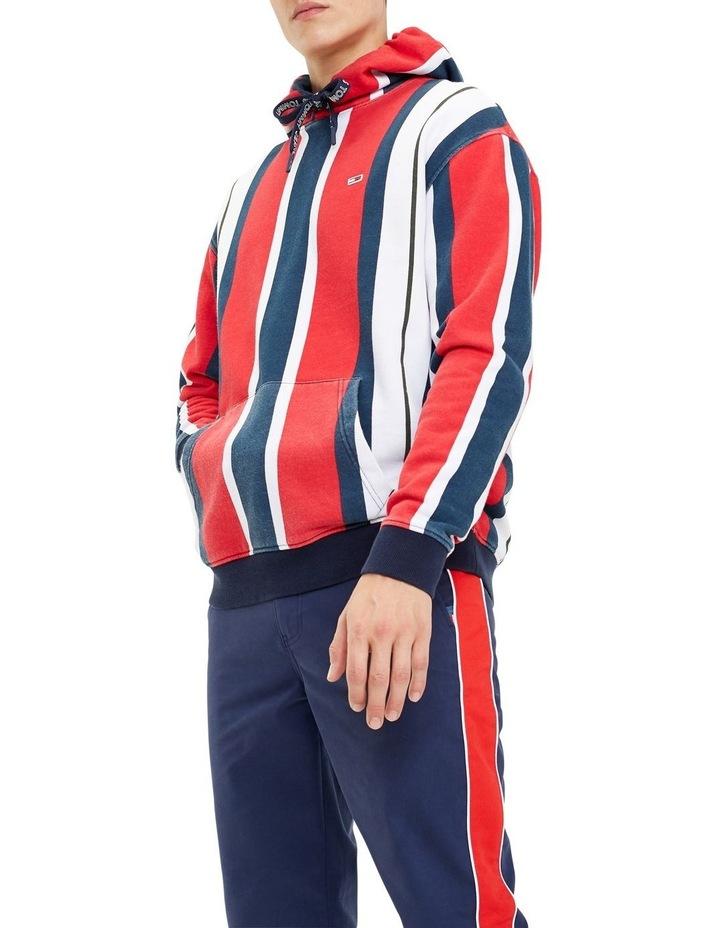 Vertical Stripe Cotton Hoodie image 1