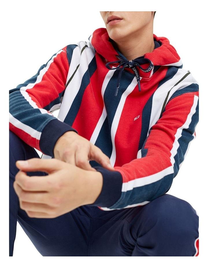 Vertical Stripe Cotton Hoodie image 2