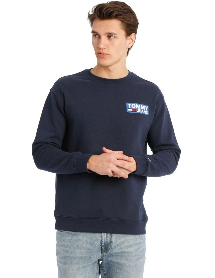 NYC Embroidered Logo Crew-Neck Sweater image 1