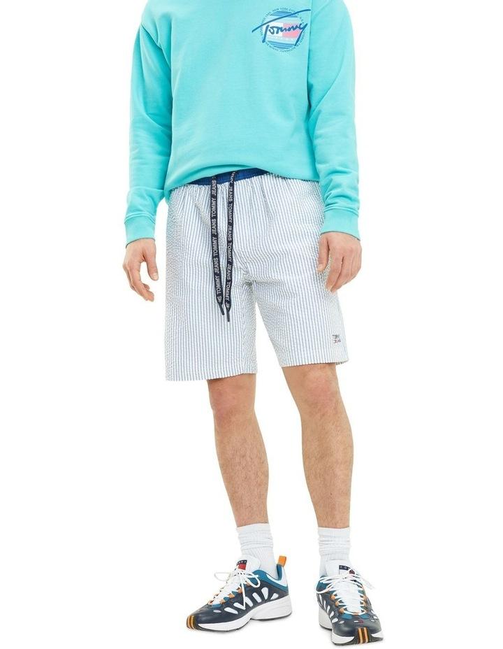 Stripe Cotton Seersucker Shorts image 1