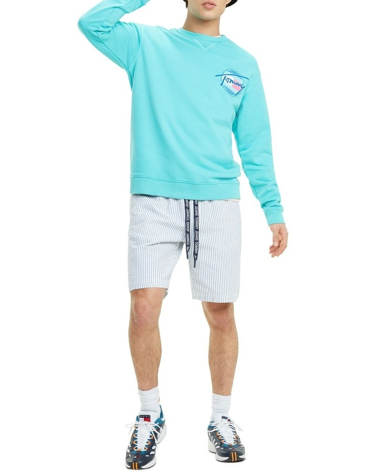 Stripe Cotton Seersucker Shorts image 2