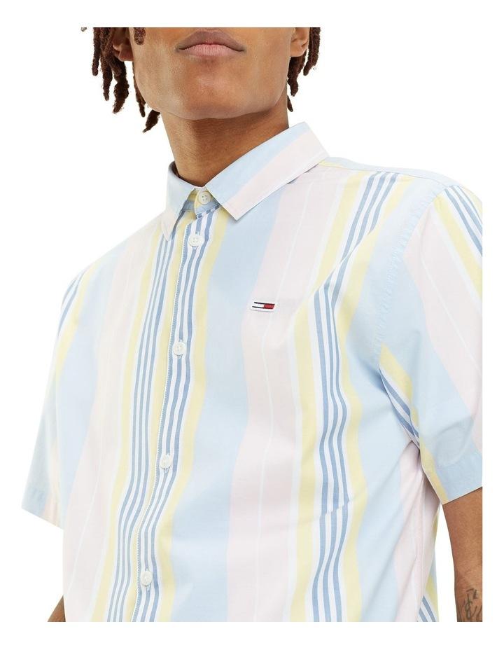 Mixed Stripe Short Sleeve Shirt image 4