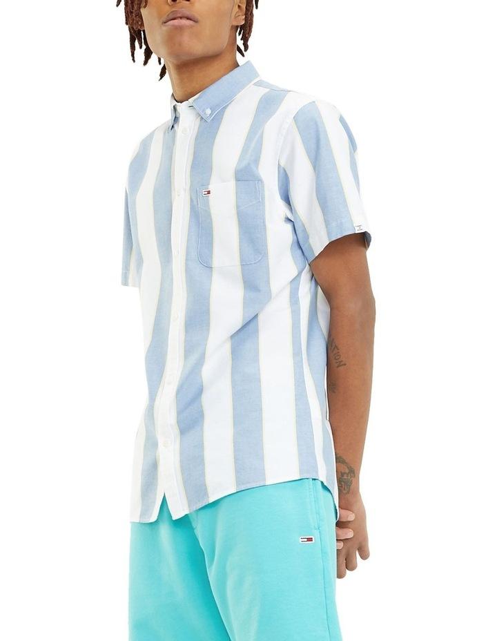 Stripe Short Sleeve Oxford Shirt image 1