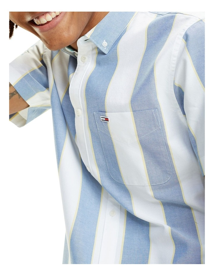 Stripe Short Sleeve Oxford Shirt image 2