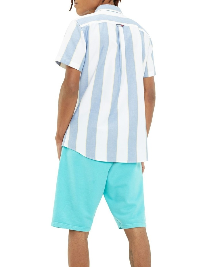 Stripe Short Sleeve Oxford Shirt image 3