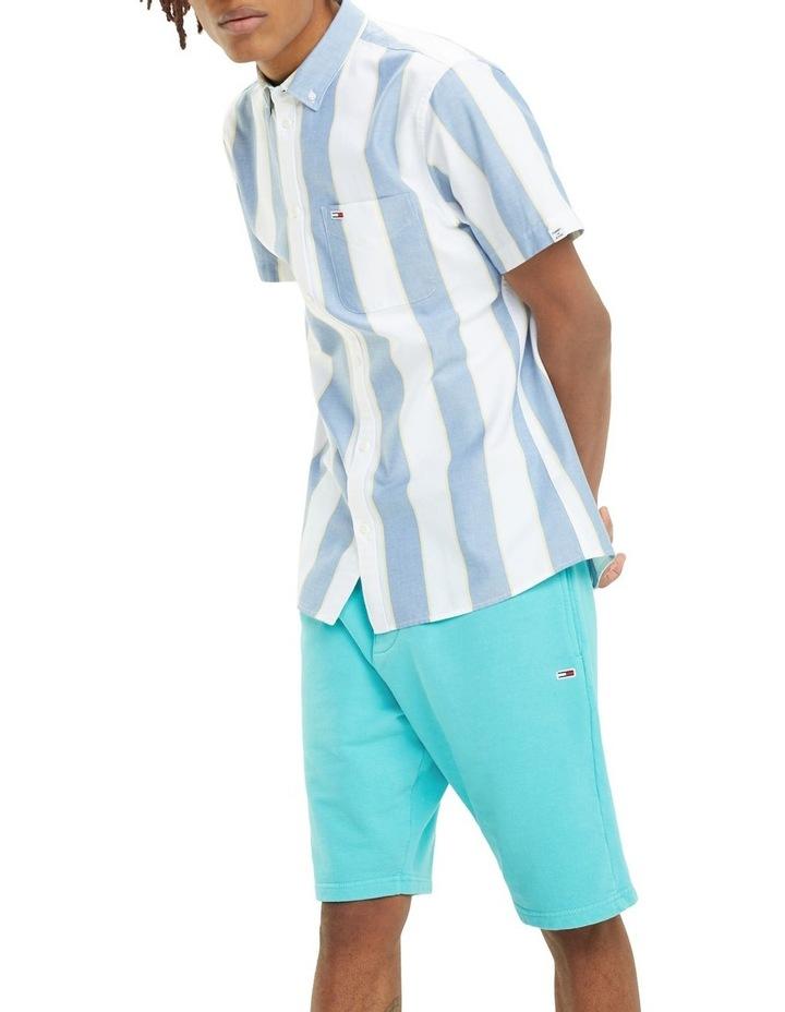 Stripe Short Sleeve Oxford Shirt image 4
