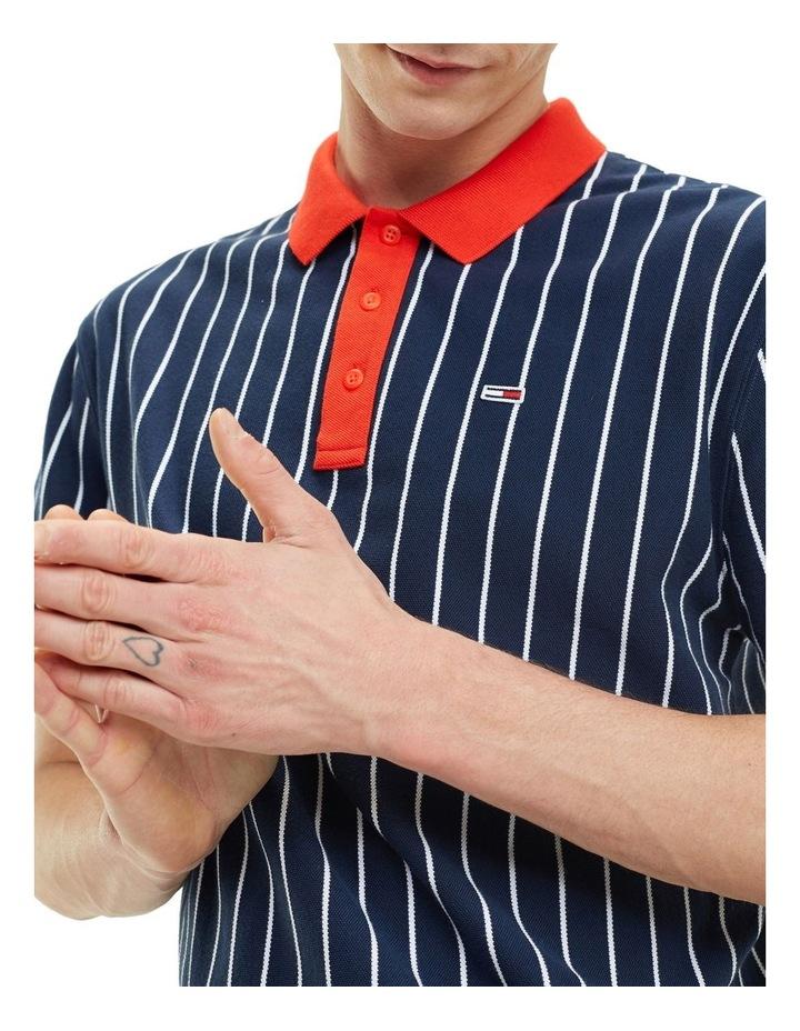 Retro Vertical Stripe Cotton Polo image 2