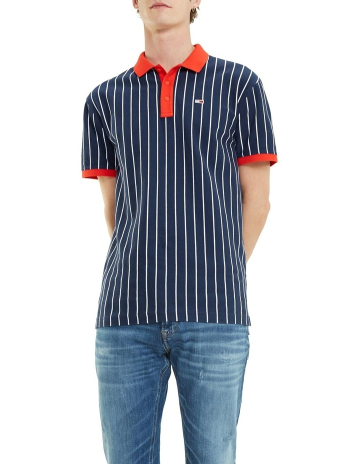 Retro Vertical Stripe Cotton Polo image 3