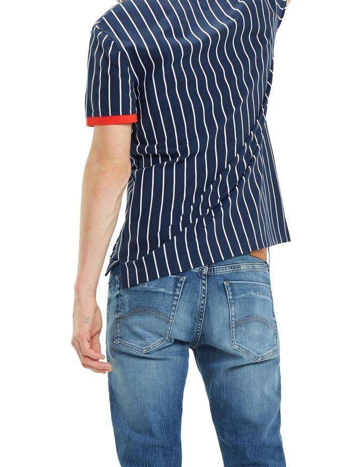 Retro Vertical Stripe Cotton Polo image 4