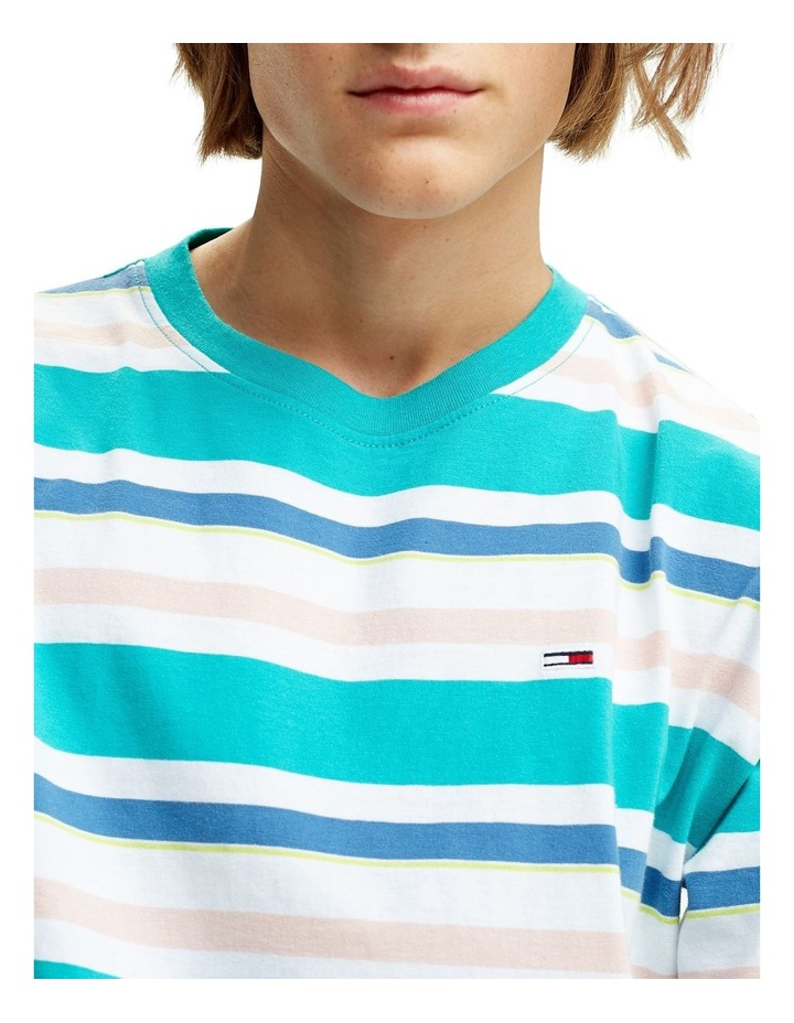 Multi Stripe Relaxed Fit T-Shirt image 4