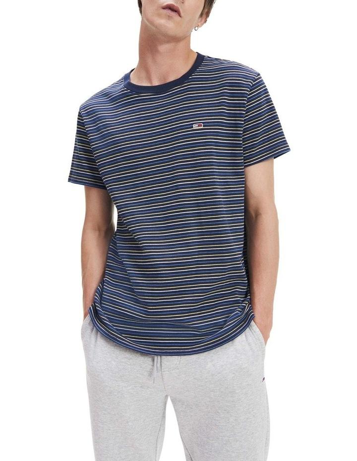 Multicolour Stripe Pure Cotton T-Shirt image 1
