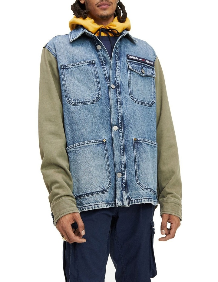 Repurposed Mixed Fabric Cargo Jacket image 1