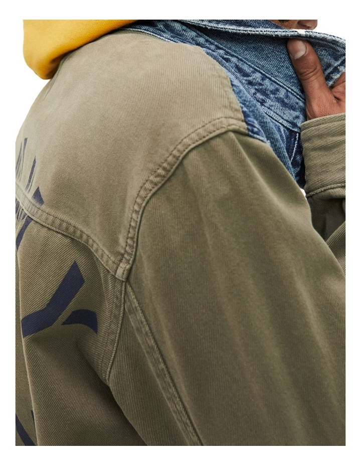 Repurposed Mixed Fabric Cargo Jacket image 5