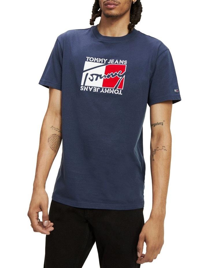 Signature Logo Applique Cotton Jersey T-Shirt image 1