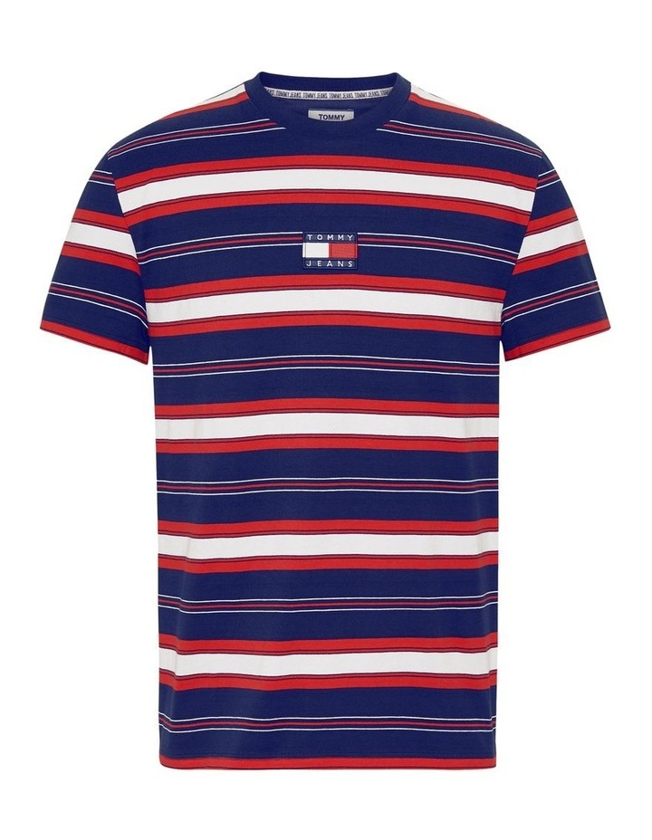 Pure Cotton Stripe Logo T-Shirt image 2