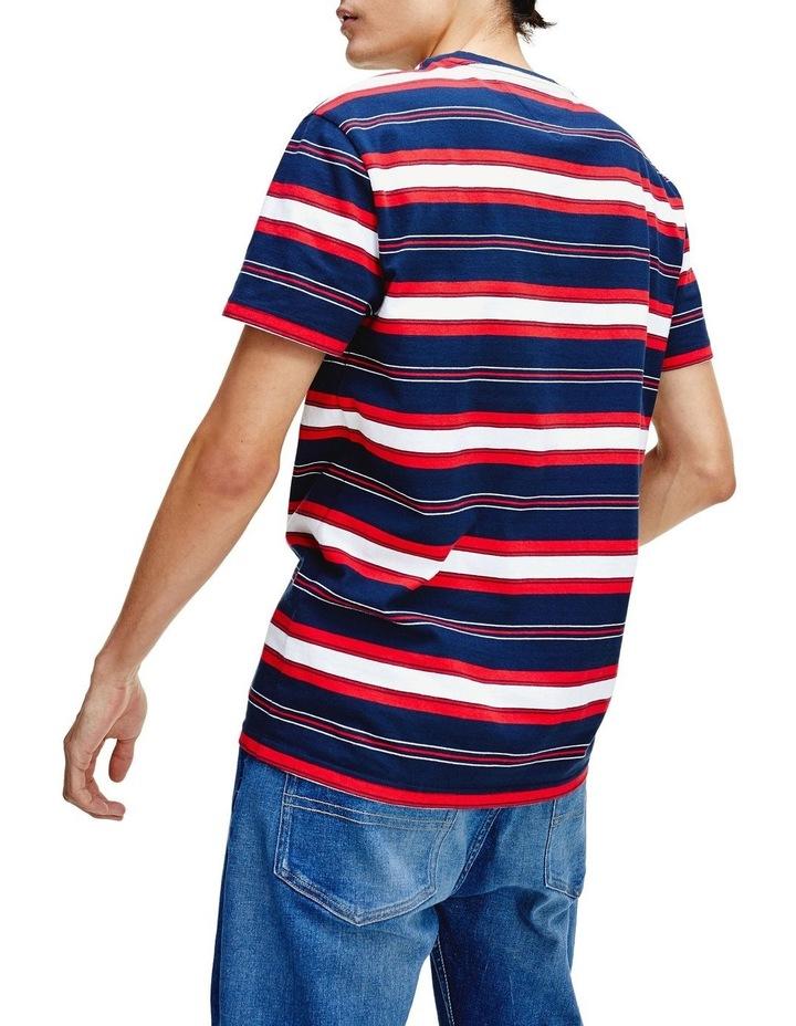 Pure Cotton Stripe Logo T-Shirt image 3