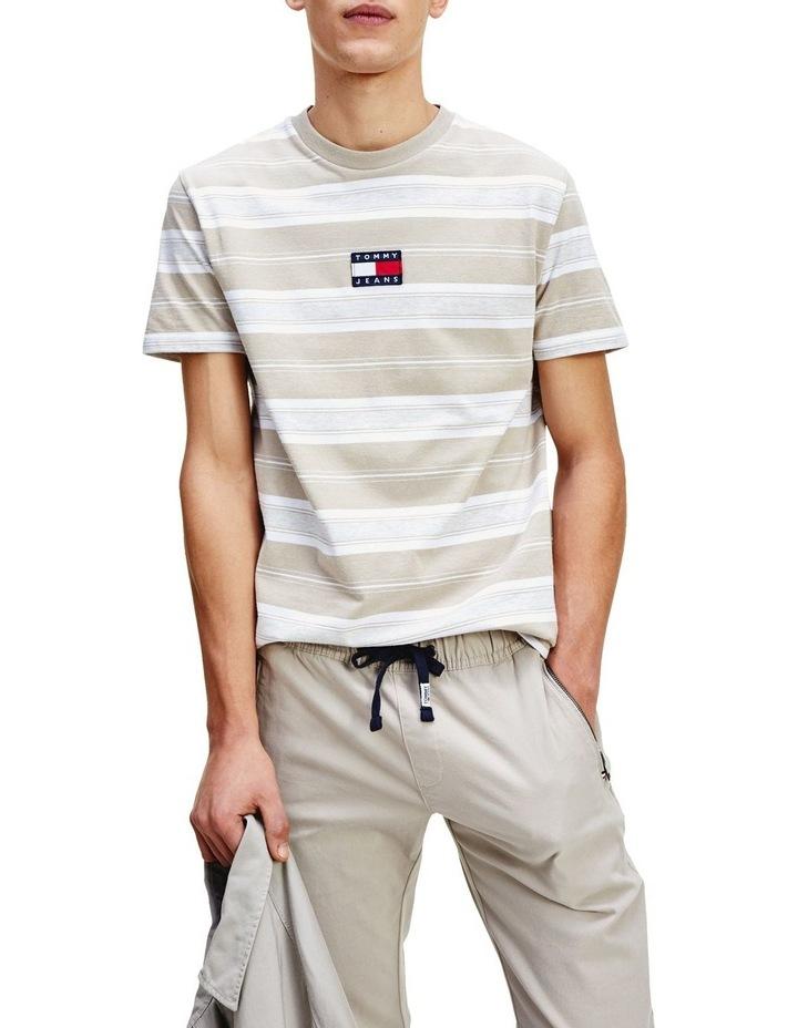 Pure Cotton Stripe Logo T-Shirt image 1