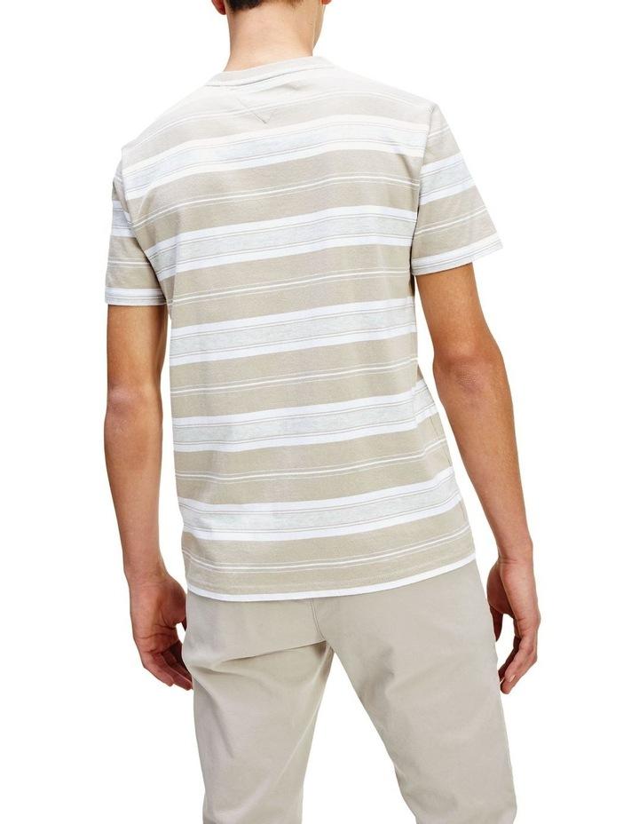 Pure Cotton Stripe Logo T-Shirt image 4