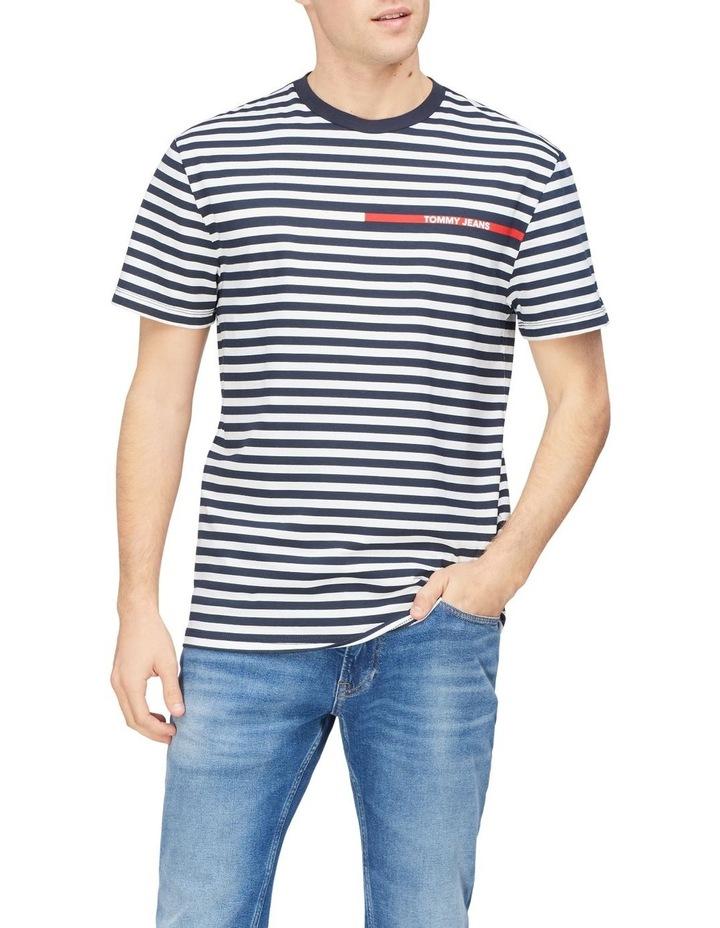 TJM Branded Stripe Tee image 1