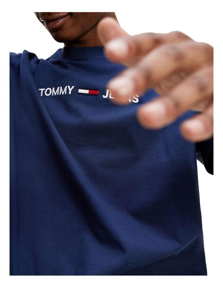 Logo Embroidery Organic Cotton T-Shirt image 3