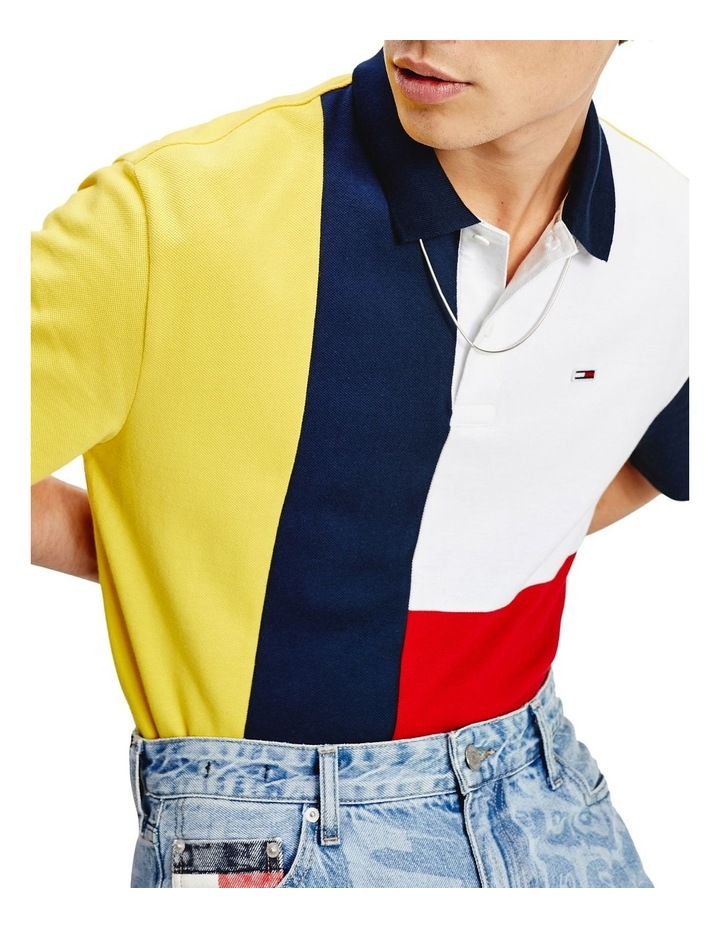 Colour-Blocked Regular Fit Polo image 1
