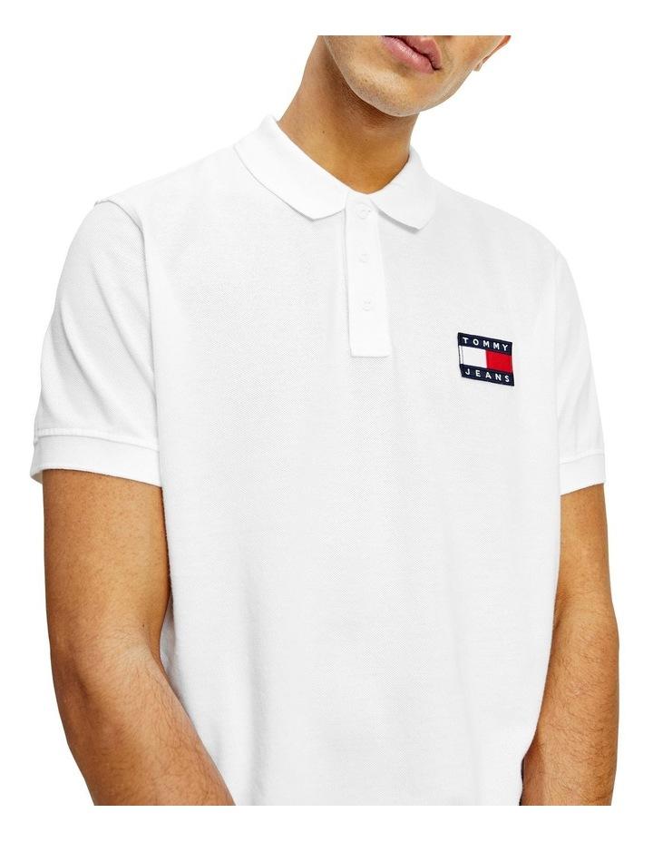 Badge Lightweight Polo White image 1