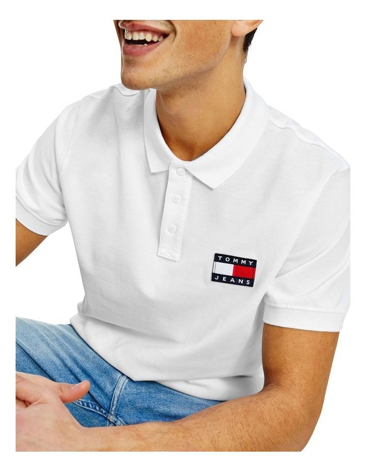 Badge Lightweight Polo White image 3