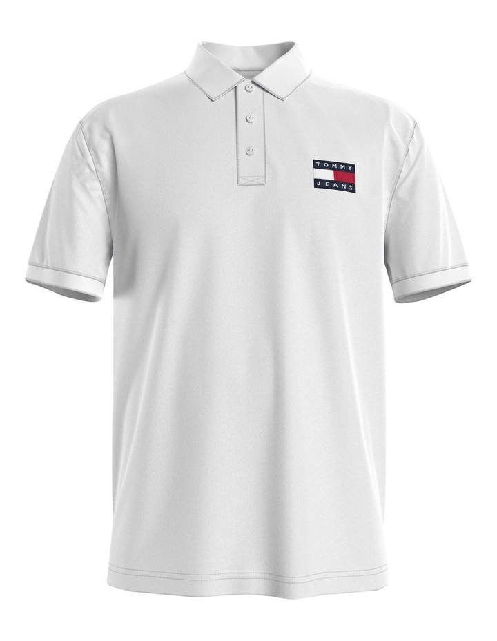 Badge Lightweight Polo White image 4
