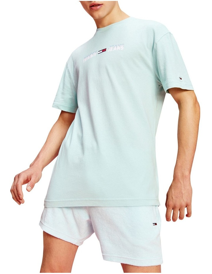 Pastel Linear Logo T-Shirt Aqua image 1