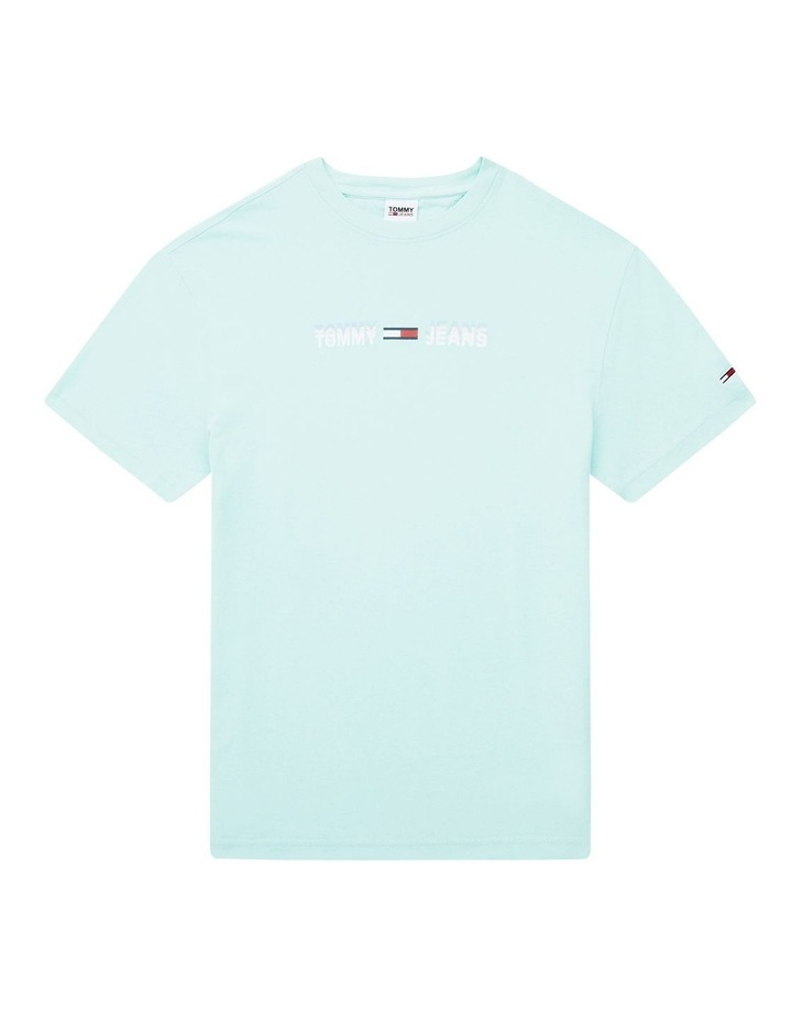 Pastel Linear Logo T-Shirt Aqua image 2