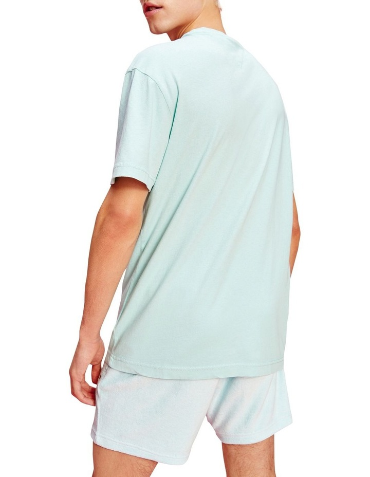Pastel Linear Logo T-Shirt Aqua image 3