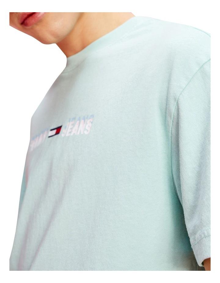 Pastel Linear Logo T-Shirt Aqua image 4