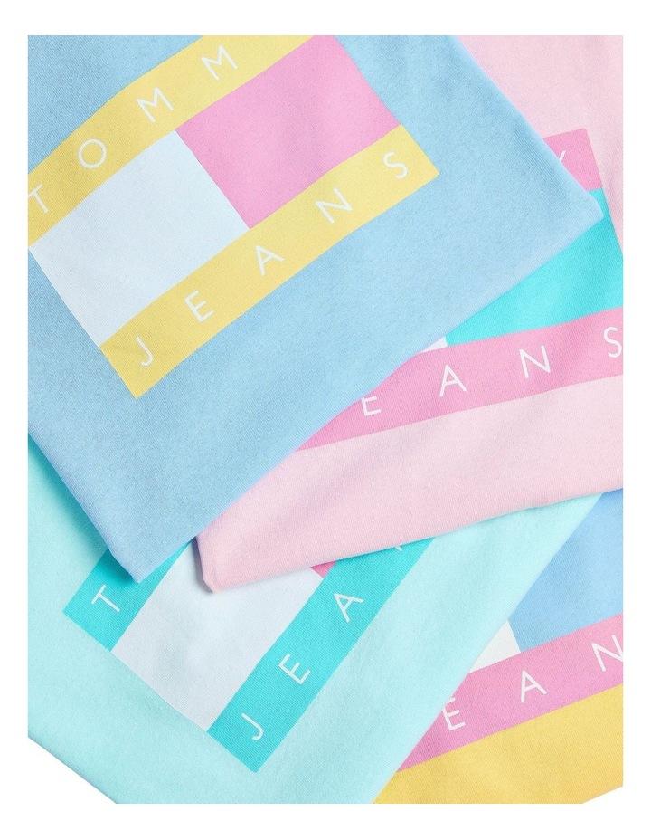 Pastel Linear Logo T-Shirt Aqua image 5