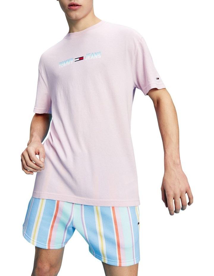 Pastel Linear Logo T-Shirt Pink image 1