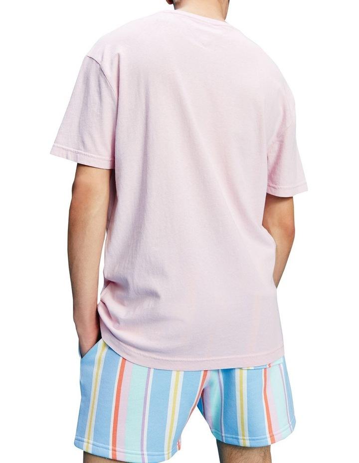 Pastel Linear Logo T-Shirt Pink image 3