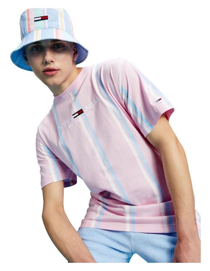 Pastel Wide Vertical Stripe T-Shirt image 1