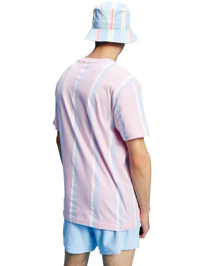Pastel Wide Vertical Stripe T-Shirt image 3