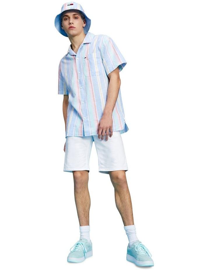 Pastel Vertical Stripe Short Sleeve Shirt image 1