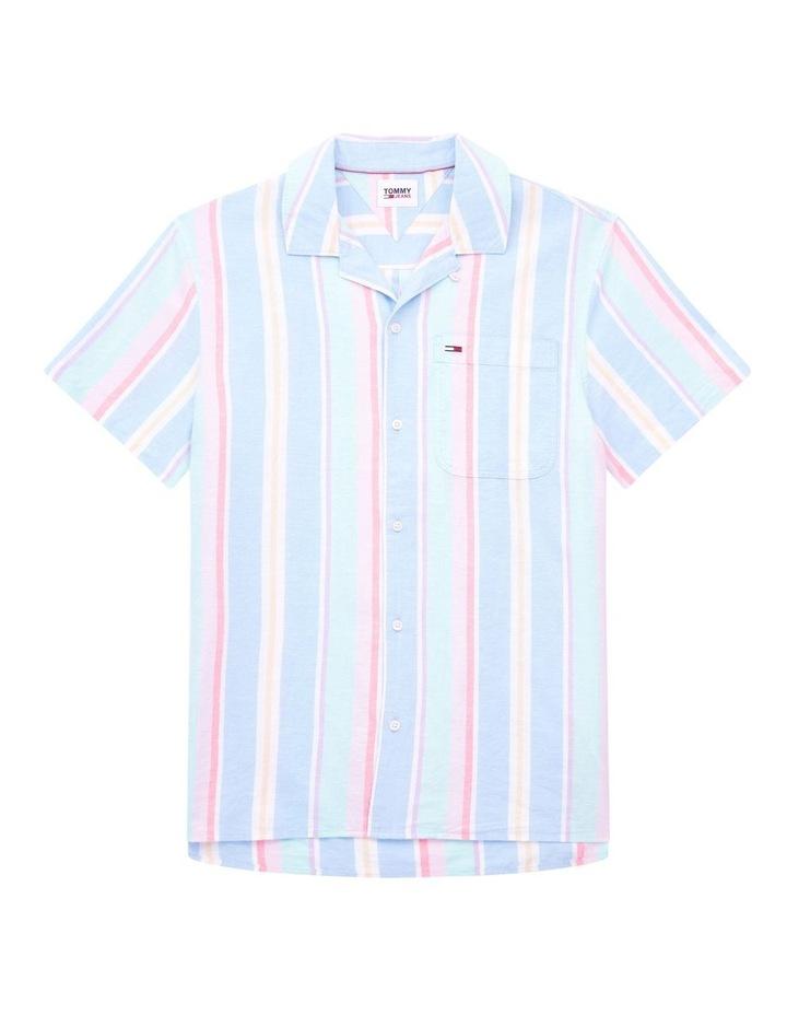 Pastel Vertical Stripe Short Sleeve Shirt image 2