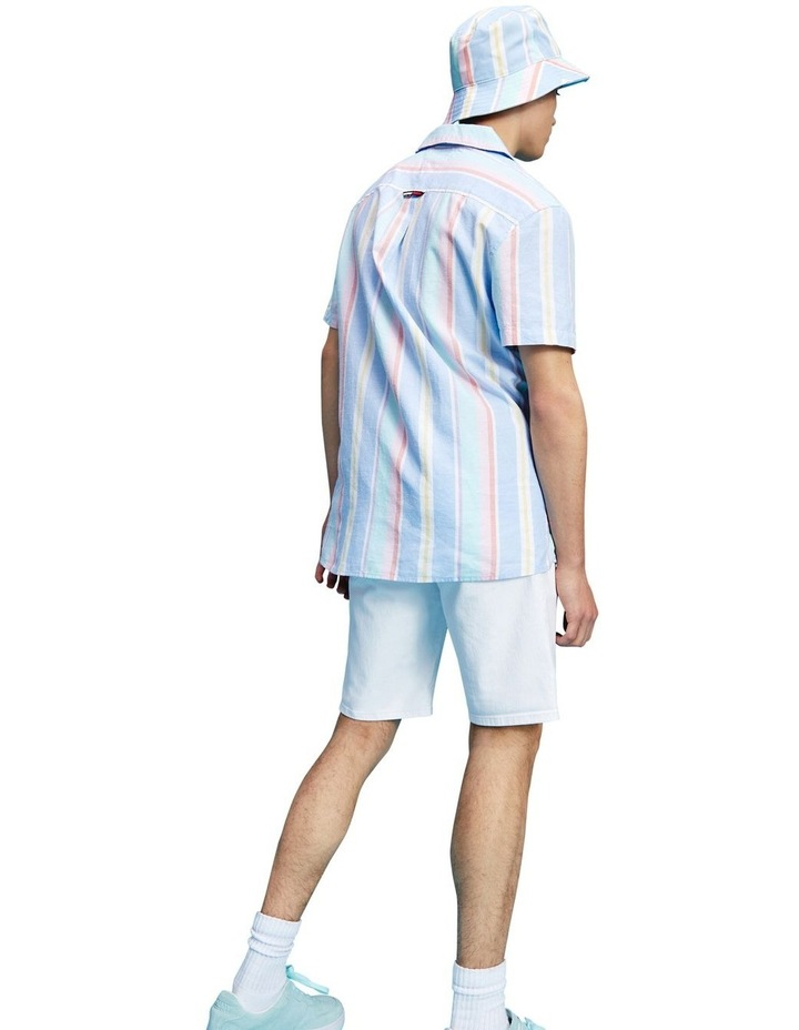 Pastel Vertical Stripe Short Sleeve Shirt image 4