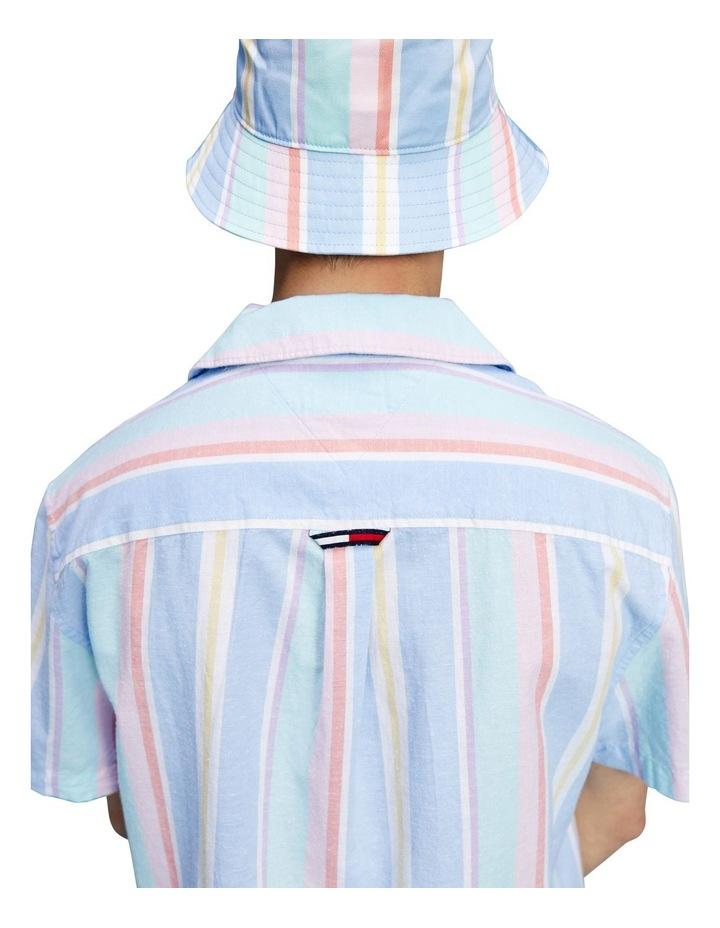 Pastel Vertical Stripe Short Sleeve Shirt image 5
