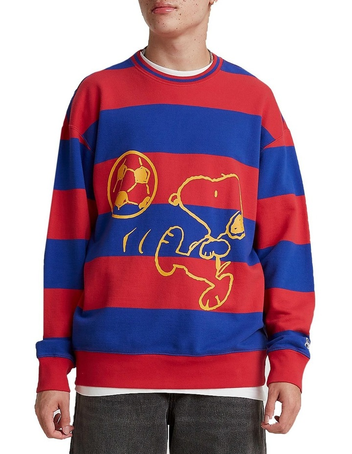 Levis® x Peanuts® Striped Relaxed Crewneck Sweatshirt image 1