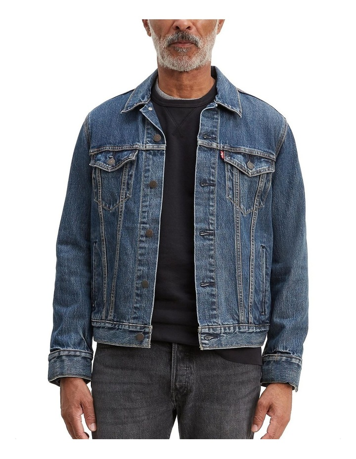 Jacquard Trucker Jacket With Jacquard By Google image 1