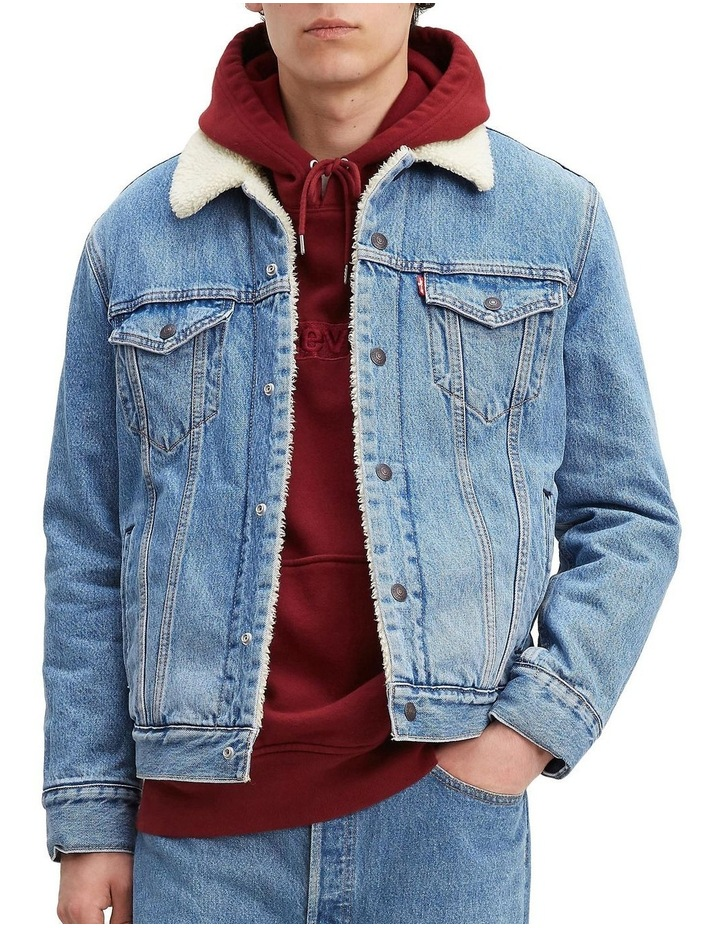 Sherpa Trucker Jacket With Jacquard By Google image 1