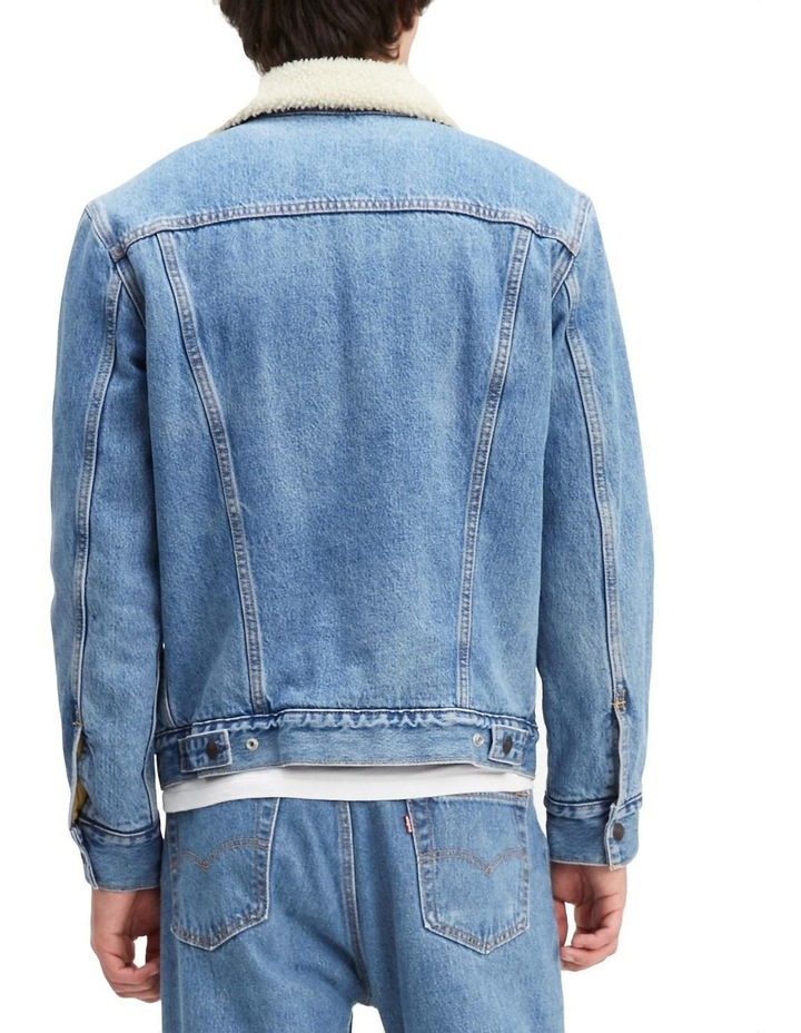 Sherpa Trucker Jacket With Jacquard By Google image 2