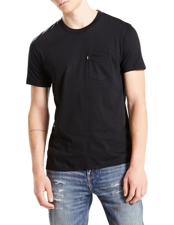 Short Sleeve Set-In Sunset Pocket Black : Black : M image 1