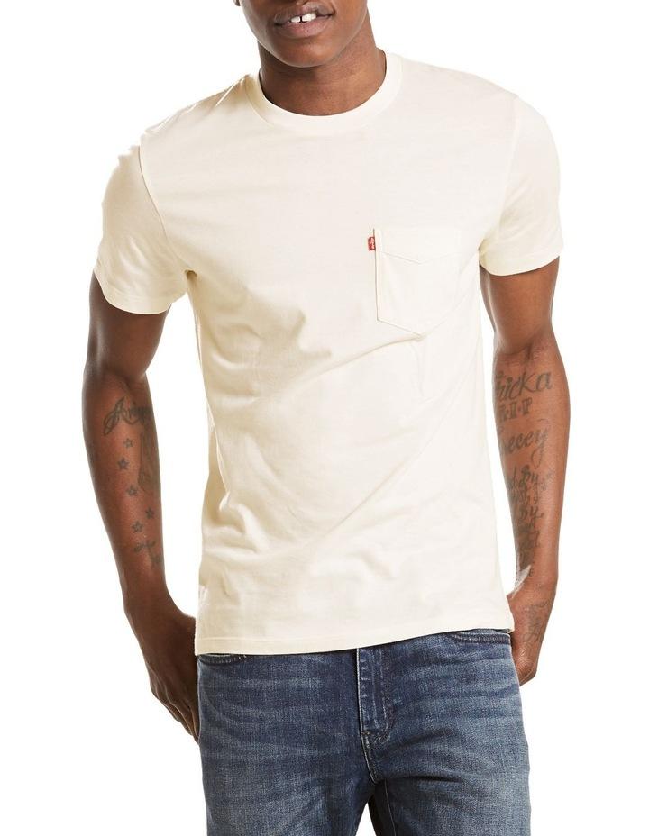 Short Sleeve Set-In Sunset Pocket Whites Moke: White: M image 1
