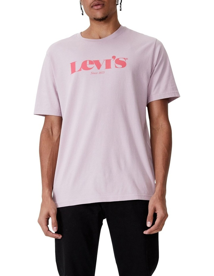 Relaxed Fit Short Sleeve T-Shirt Lilac image 1