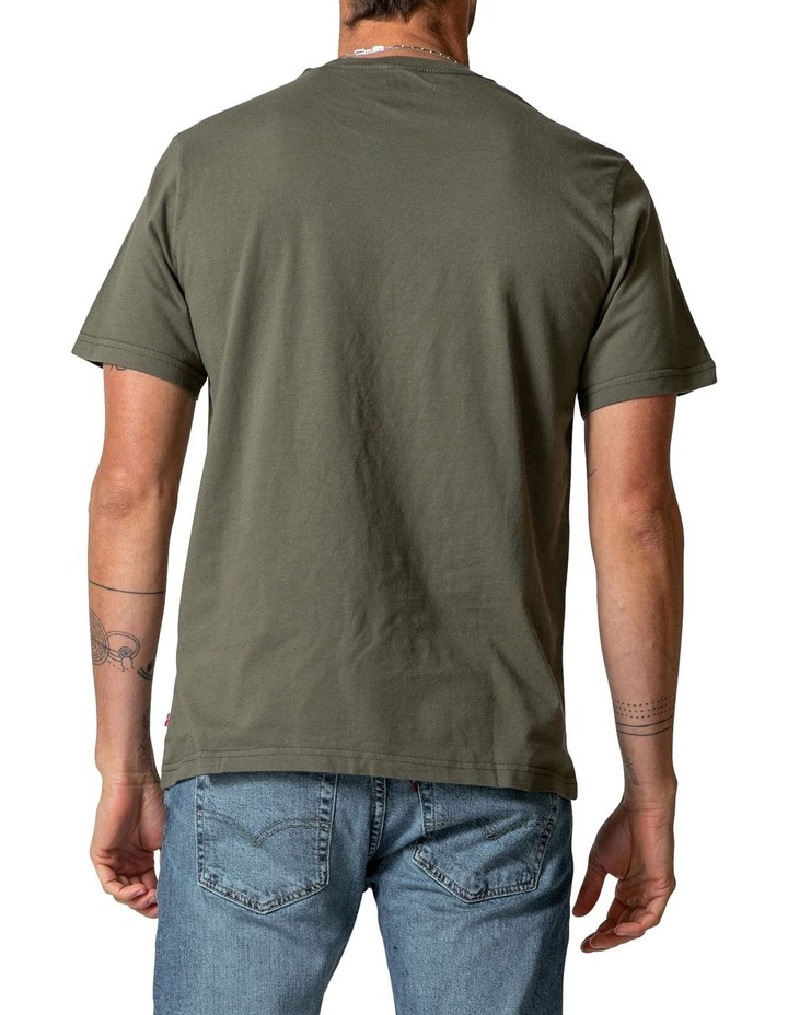 Relaxed Fit Short Sleeve T-Shirt In Dusty Olive image 2